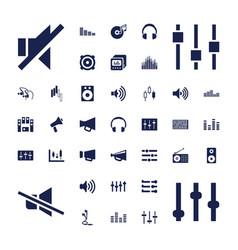37 volume icons vector