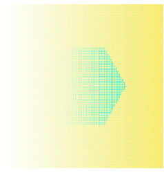 abstract background hexagon design yellow vector image