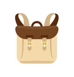 Adventure backpack icon flat style vector