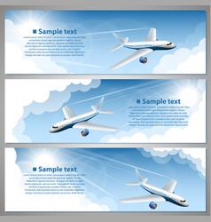 airfare banner set vector image