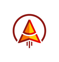 arrow up technology logo vector image