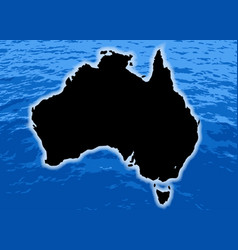 Australia outline vector