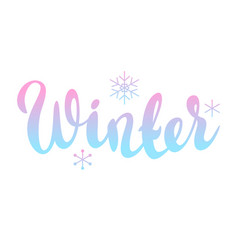 background with winter lettering vector image