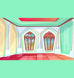 Ballroom or palace hall vector