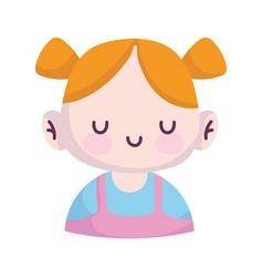 bashower little girl character announce vector image