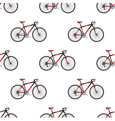 bike pattern in flat style sport bicycle vector image