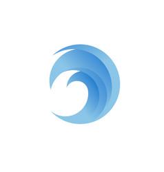 Blue wave logo vector