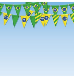Brazil bunting decoration vector