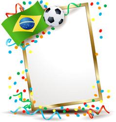 Brazilian signboard soccer theme vector
