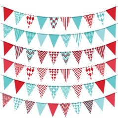 Bunting Banner set vector
