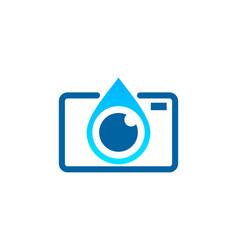 camera water logo icon design vector image