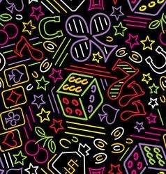 casino bg neon vs vector image