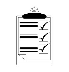 Checklist on clipboard icon image vector