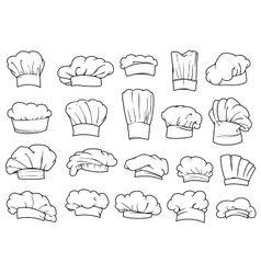 Chefs toques caps and hats vector