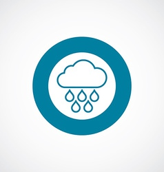 Cloud rain icon bold blue circle border vector