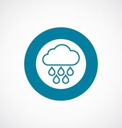 cloud rain icon bold blue circle border vector image