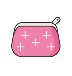 Cosmetic bag filled outline icon vector
