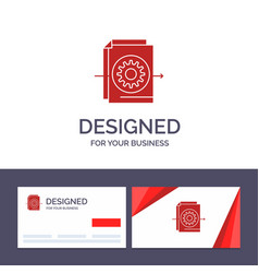 creative business card and logo template document vector image