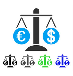 Currency compare scales flat icon vector