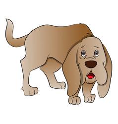 cute boxer dog vector image