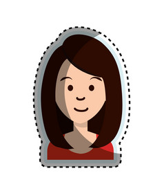 cute businesswoman avatar character vector image