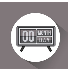 digital calendar date icon vector image