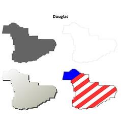 Douglas Map Icon Set vector image