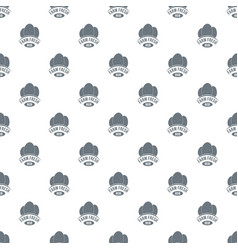 eco farm fresh pattern seamless vector image