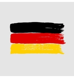 Flag of Germany on a gray background vector