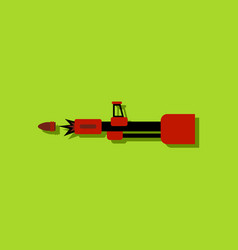 Flat icon design collection machine gun bullet vector