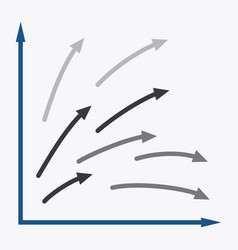 Flat icon on stylish background arrow chart vector