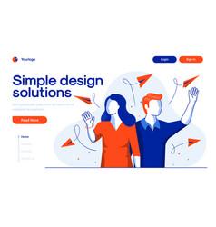 Flat modern design simple design solutions vector