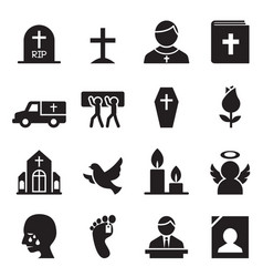 funeral burial icon vector image
