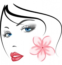 girls face vector image vector image