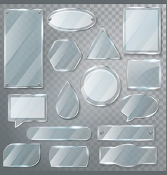 glass transparency glossy clear blank frame vector image