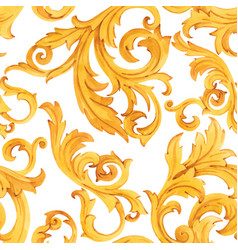 Golden baroque rich luxury pattern vector