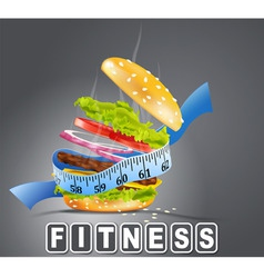 Hamburger fitness vector