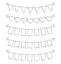 Hand Drawn Bunting vector image