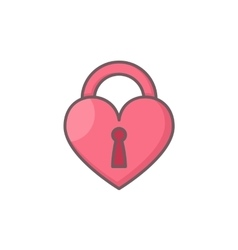 Heart shaped lock vector image