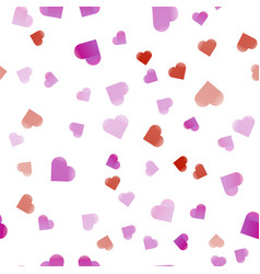 hearts colorful abstract seamless pattern vector image