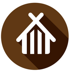 home flat icon with long shadow vector image