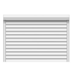 house louver mockup realistic style vector image