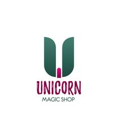icon letter u for magic shop vector image