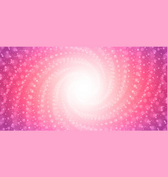 Infinite tunnel of shining flares on pink vector