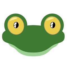 isolated cute lizard avatar vector image