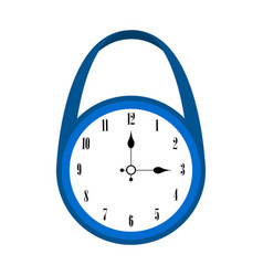 isolated wall clock icon vector image