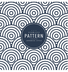 Japanese seamless round pattern traditional vector