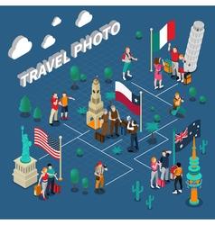 Journey People Isometric Template vector image