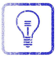 Lamp bulb framed textured icon vector
