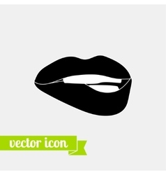Lips icon 2 vector